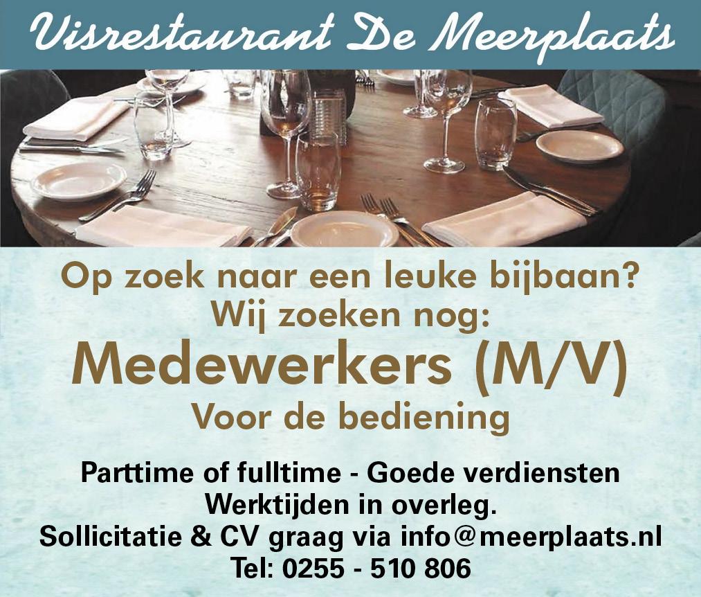 Vacature Medewerkers voor de bediening M/V