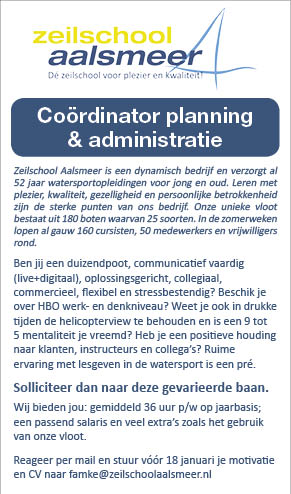 Vacature Coördinator planning & administratie