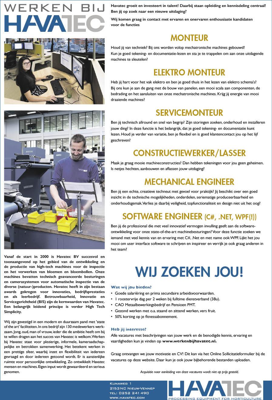 Vacature Constructiemedewerker/lasser