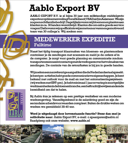 Vacature Medewerker expeditie M/V