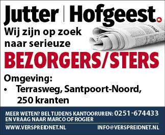 Vacature Bezorgers/sters Weekblad Jutter/Hofgeest