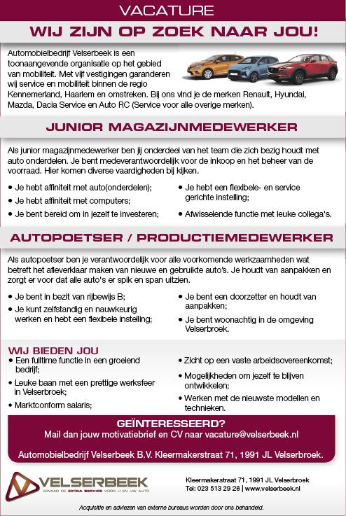 Vacature Autopoetser / Productiemedewerker