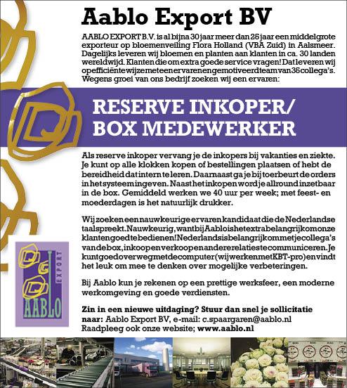 Vacature Reserve inkoper/box medewerker
