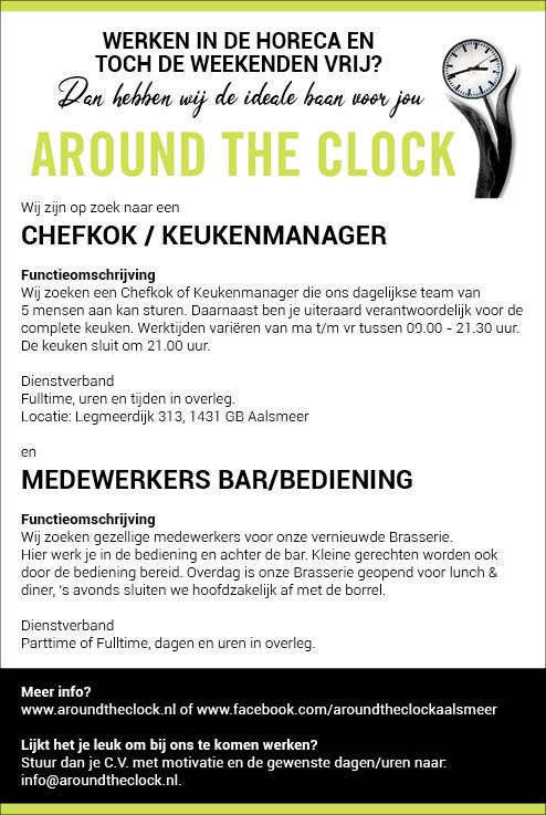 Vacature Medewerkers bars/bediening