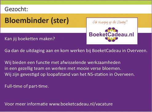 Vacature Bloembinder(ster)