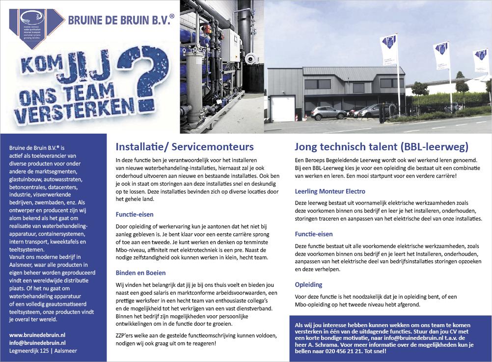 Vacature Jong technisch talent (BBL-leerweg)