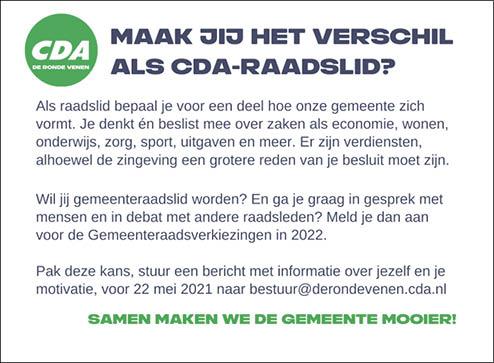 Vacature CDA-Raadslid