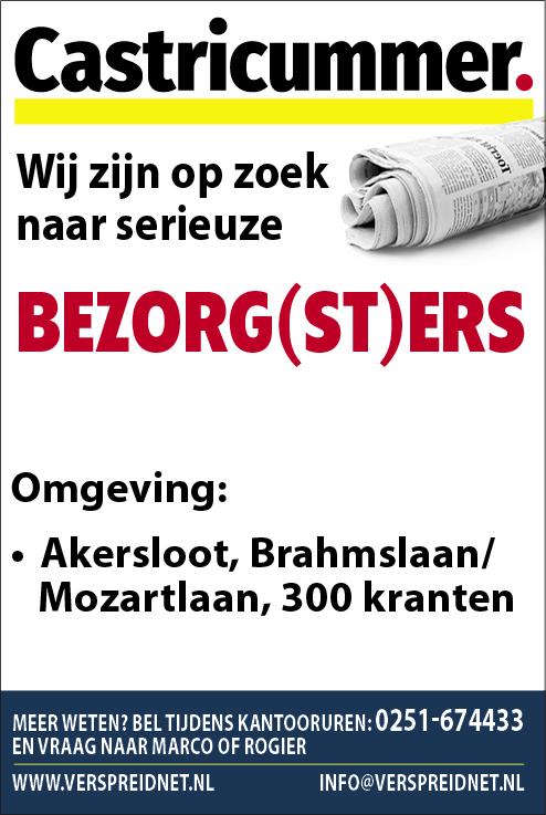 Vacature Bezorg(st)ers Castricummer