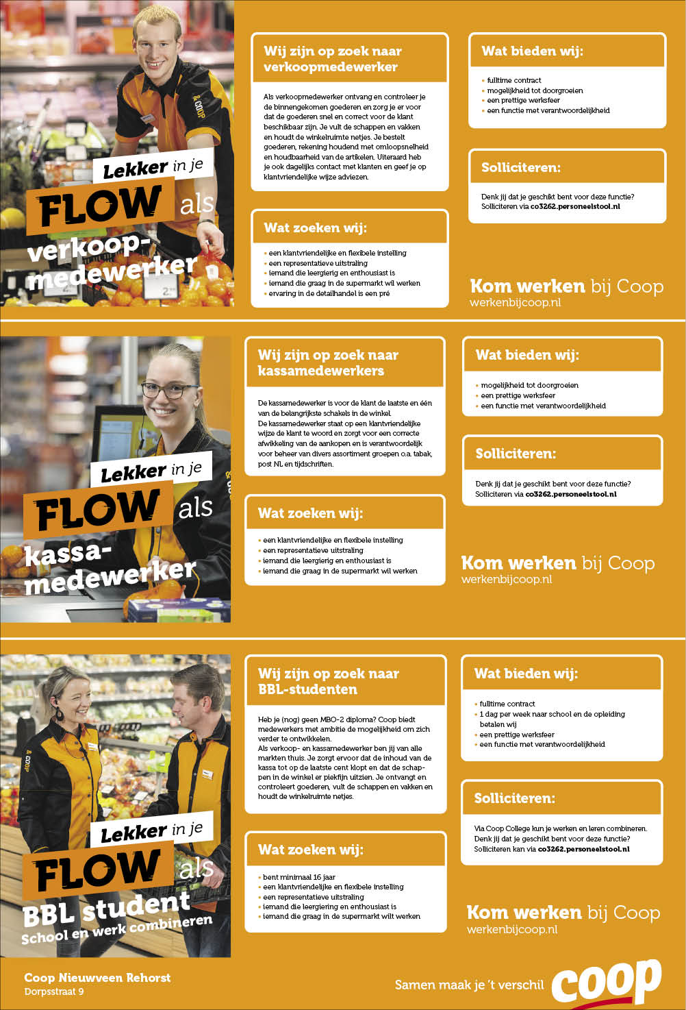 Vacature BBL Student