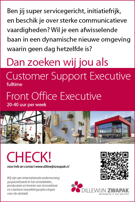 Vacature Front Office Executive