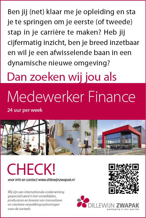 Vacature Medewerker Finance