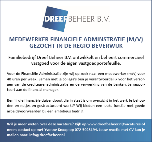 Vacature Medewerker Financiële Administratie