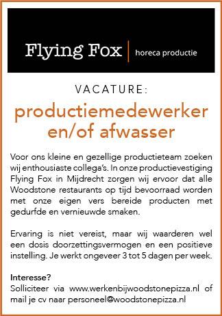 Vacature Productiemedewerker en/of afwasser
