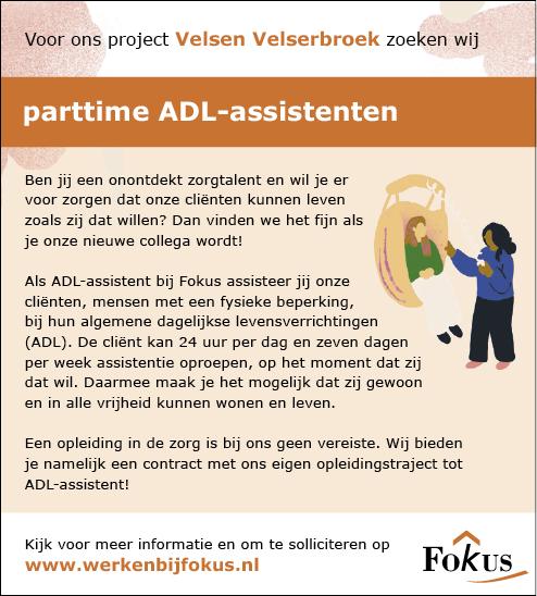 Vacature ADL-assistent