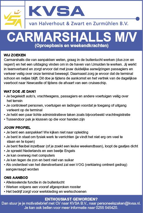 Vacature Carmarshall