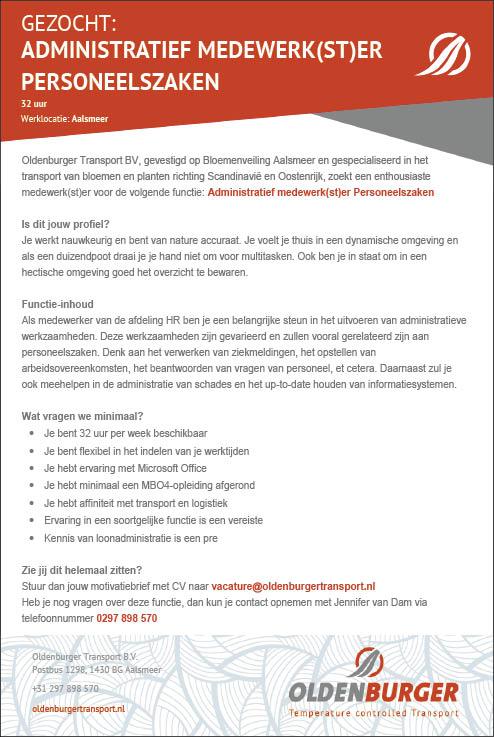 Vacature Administratief medewerk(st)er personeelszaken