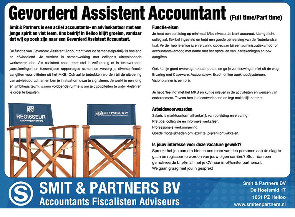 Vacature Gevorderd Assistent Accountant