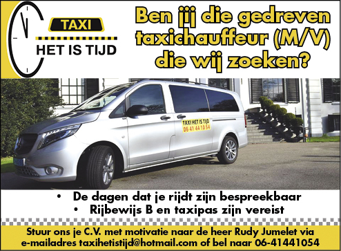 Vacature Taxichauffeur