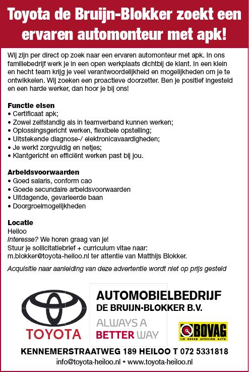 Vacature Ervaren Automonteur met APK