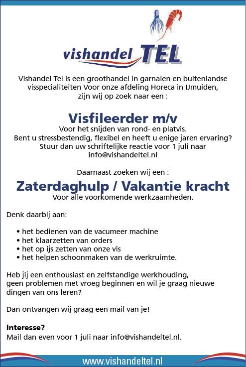 Vacature Zaterdaghulp / Vakantiekracht
