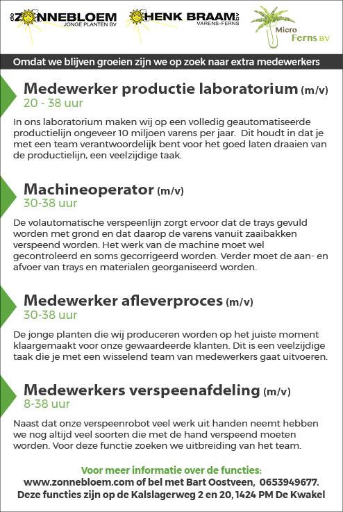 Vacature Medewerker productie laboratorium